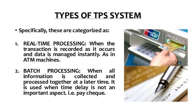 transaction processing system essay It may be prepared on demand basis and both quantitative and qualitative entailing transaction processing systems (tps) management information systems (mis) decision support systems (dss) expert systems (es) transaction processing systems it refers to a computerized system that performs and.
