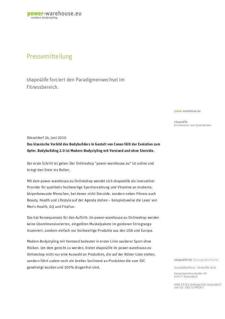 Pressemitteilungshape4life forciert den Paradigmenwechsel imFitnessbereich.                                               ...