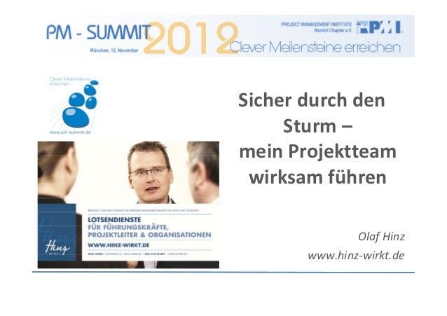 Sicherdurchden     Sturm–meinProjektteam wirksamführen               OlafHinz       www.hinz‐wirkt.de