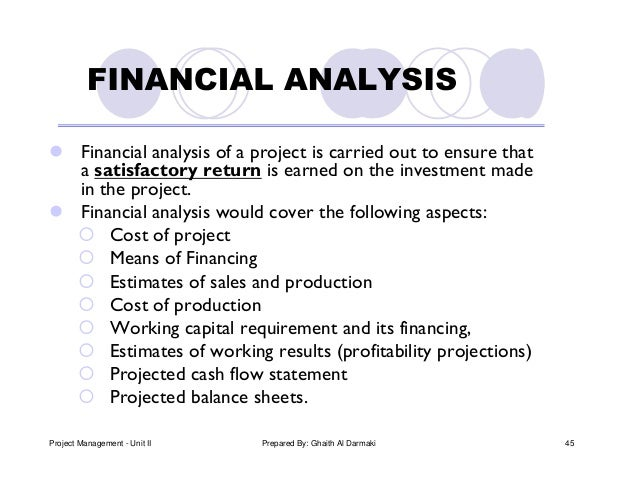 Pm unit ii - feasibility study of project