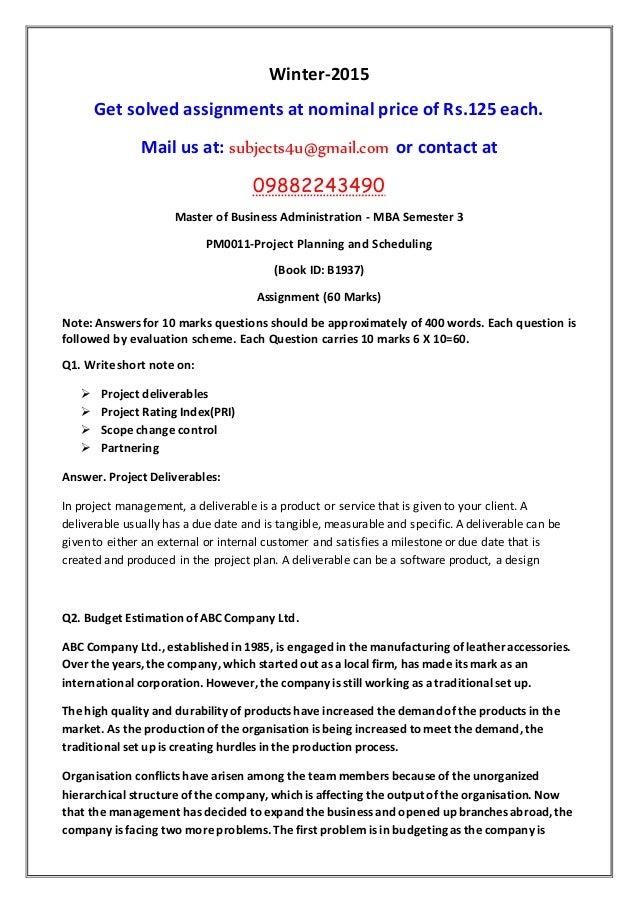 Maintenance Planning and Scheduling Seminar