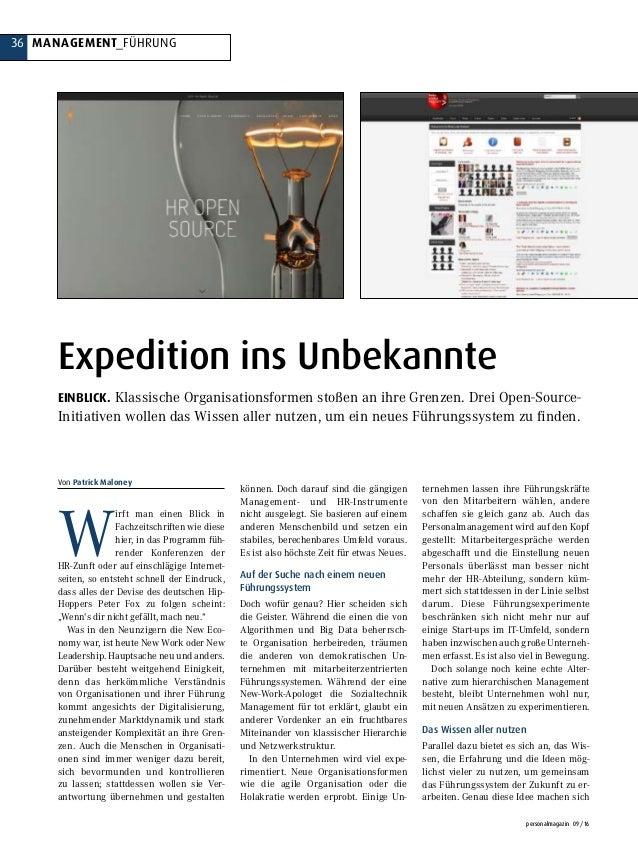 36 MANAGEMENT_FÜHRUNG personalmagazin 09/16 W irft man einen Blick in Fachzeitschriften wie diese hier, in das Programm fü...
