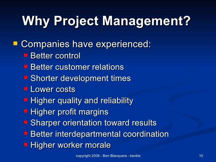 why project management Why project management: project management traps and benefits, project management principles, discipline and methods skip to main content skip to main menu skip to.