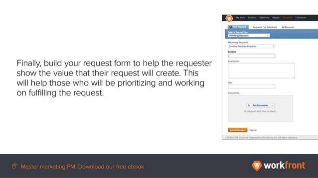 Finally, build your request form to help the requestor show the value that their request will create. This will help those...