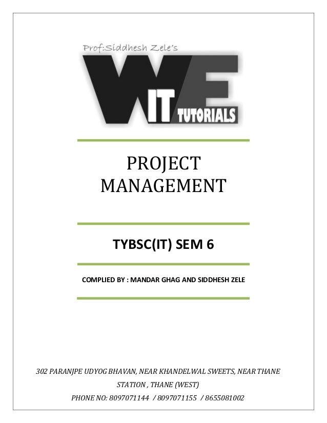 It pdf tybsc notes sem 6