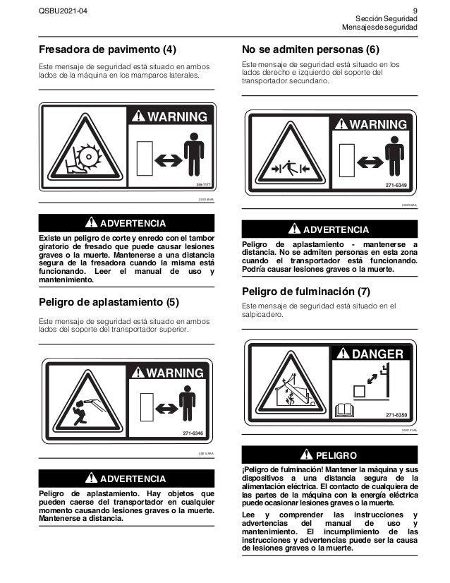 Manual de uso y Mantenimiento de Perfiladora de Pavimento