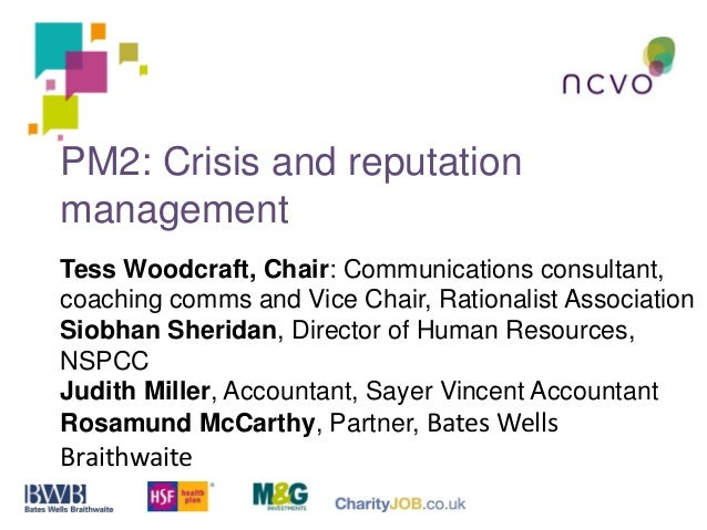 PM2: Crisis and reputation management Tess Woodcraft, Chair: Communications consultant, coaching comms and Vice Chair, Rat...