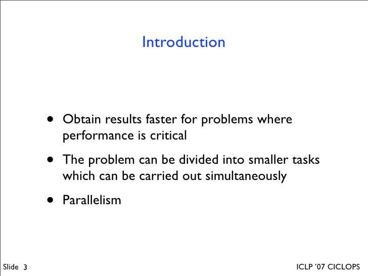Distributed Multi-Threading in GNU-Prolog Slide 3