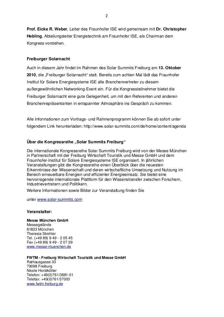 2Prof. Eicke R. Weber, Leiter des Fraunhofer ISE wird gemeinsam mit Dr. ChristopherHebling, Abteilungsleiter Energietechni...