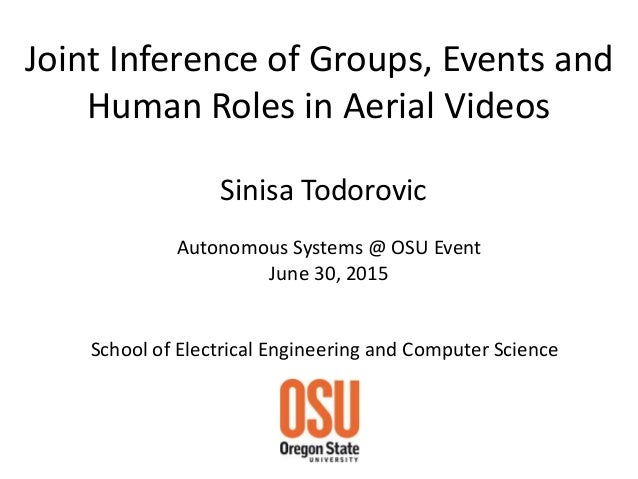 Joint Inference of Groups, Events and Human Roles in Aerial Videos School of Electrical Engineering and Computer Science S...
