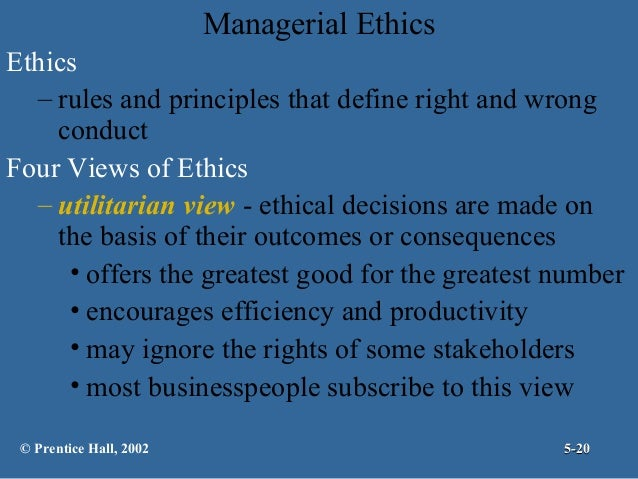 different views of ethics in business