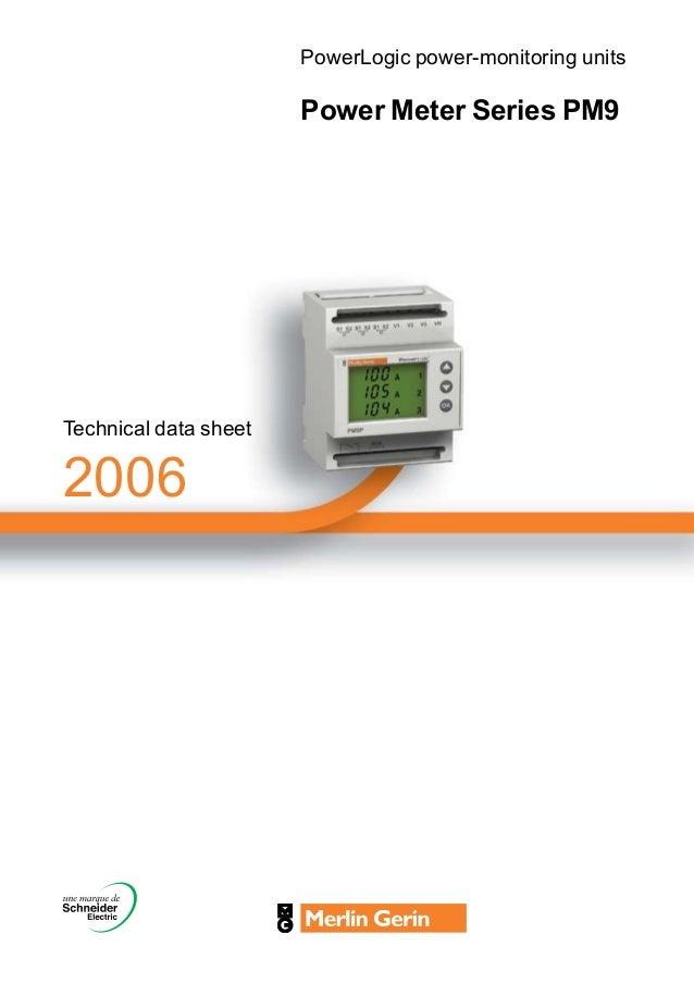 Powerlogic Energy Meter : Pm datasheet