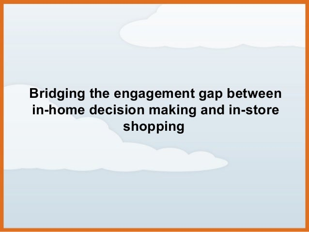 Bridging the engagement gap between in-home decision making and in-store shopping