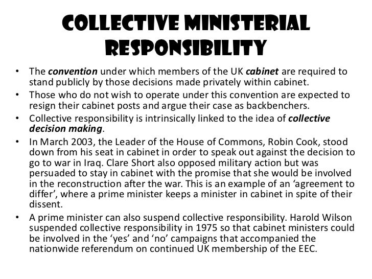Cabinet collective responsibility
