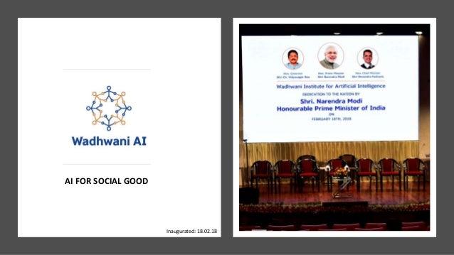 AI FOR SOCIAL GOOD Inaugurated: 18.02.18