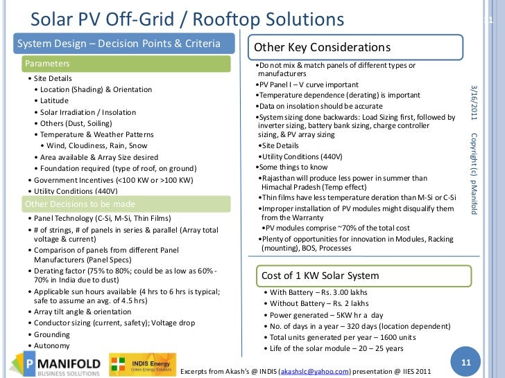 Pmanifold Indis Solar Pv Iies Workshop Report