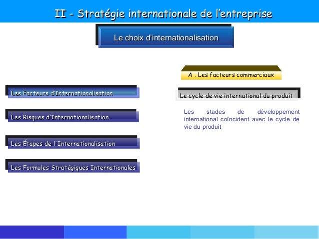 developpement international de lentreprise strategies dinternationalisation