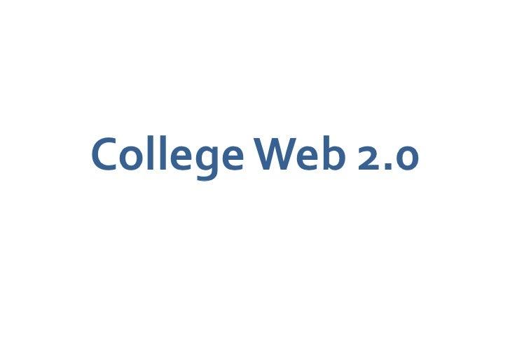 College Web 2.0