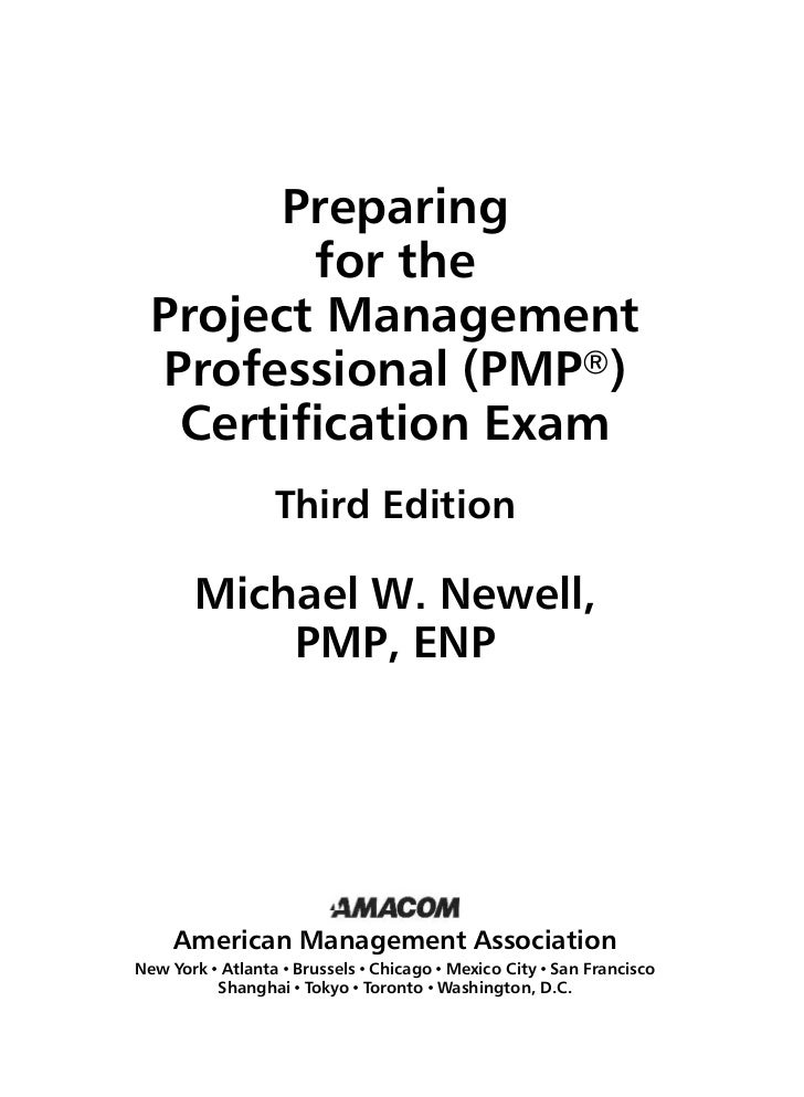 Pmbok Preparing For The Pmp Certification Exam 3 Ed 2005