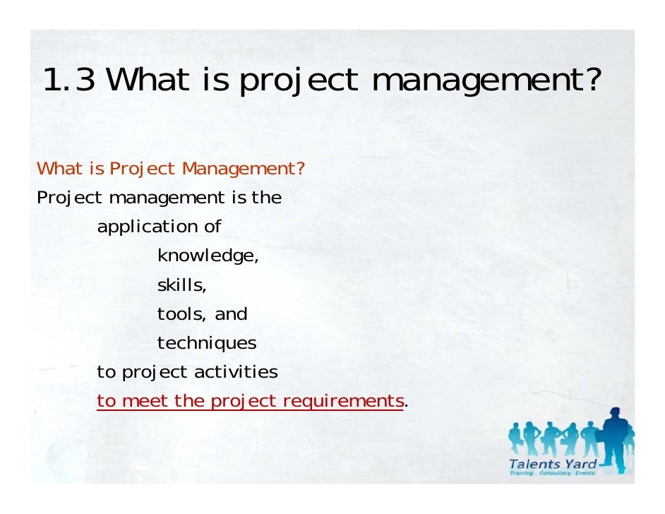 pmbok 1 introduction Chapter 1: introduction to project management adopted from pmi's pmbok 2000 and textbook : information technology project management (author : dr kathy schwalbe.