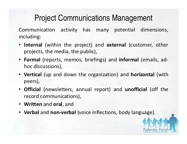 Pmbok 4th edition chapter 10 - Project Communication ...
