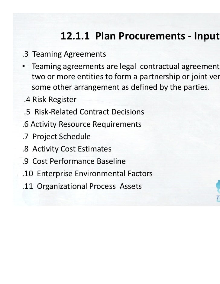 Pmbok 4th edition chapter 12 - Project Procuret Managet