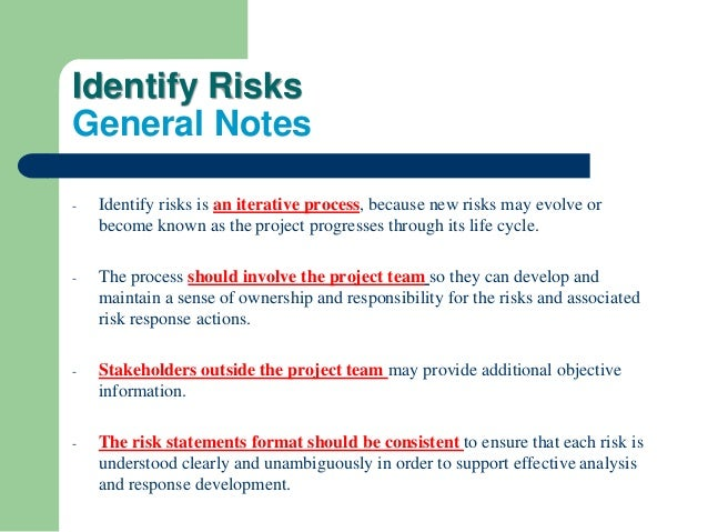 project part 3 identify risk threats Risk assessment worksheet and management plan form risk_managementdoc page 1 of 12 • review the following project risk assessment • identifying triggers for each risk • identifying the plan for each risk.