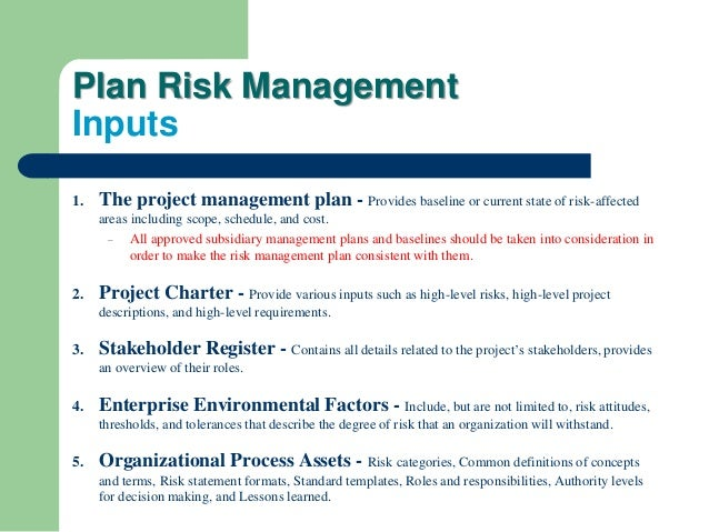 Pmbok 5th planning process group part four _ Project Risk Management