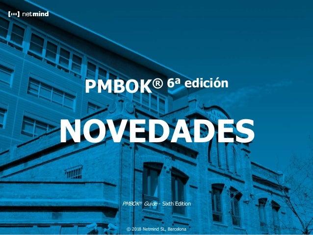 Cliente Preparación de la Certificación Project Management Professional (PMP)®v06.02JJM194 © 2018 Netmind SL, Barcelona PM...