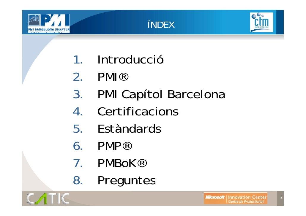 Pmbok guia pr ctica per la gesti de projectes - Project management barcelona ...