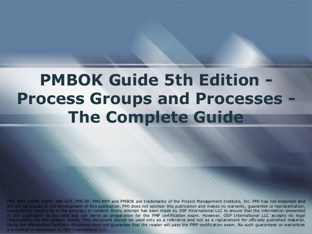 pmbok guide 5th edition citation