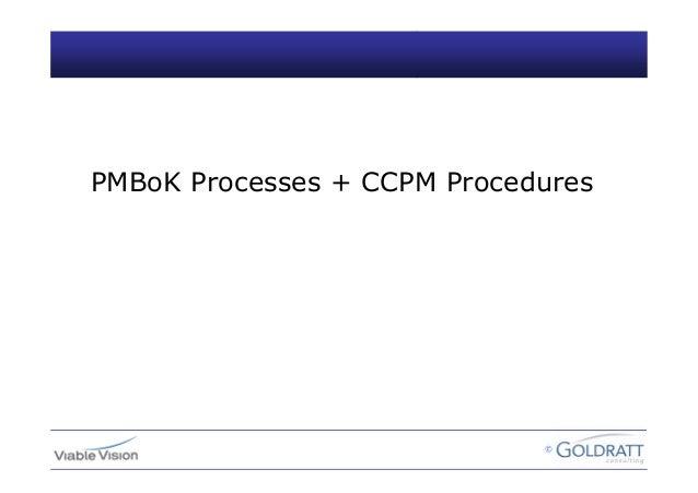 © PMBoK Processes + CCPM Procedures