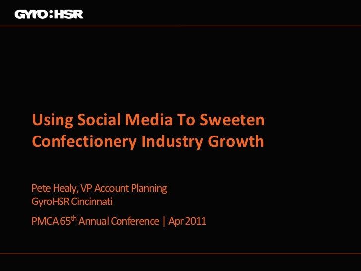 Using Social Media To SweetenConfectionery Industry GrowthPete Healy, VP Account PlanningGyroHSR CincinnatiPMCA 65th Annua...