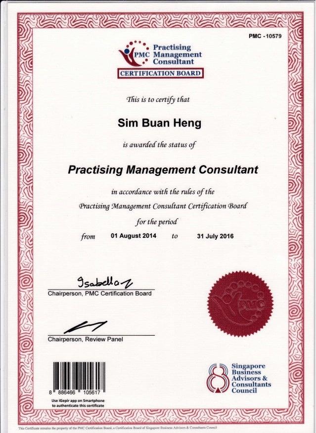 Practising Management Consultant Pmc