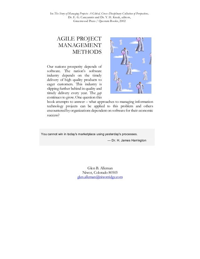 In: The Story of Managing Projects: A Global, Cross–Disciplinary Collection of Perspectives, Dr. E. G. Carayannis and Dr. ...