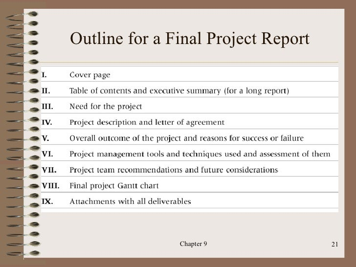 project management final A final project manager's status report or project review and closure report  has been endorsed by the steering committee all of the outputs have been.
