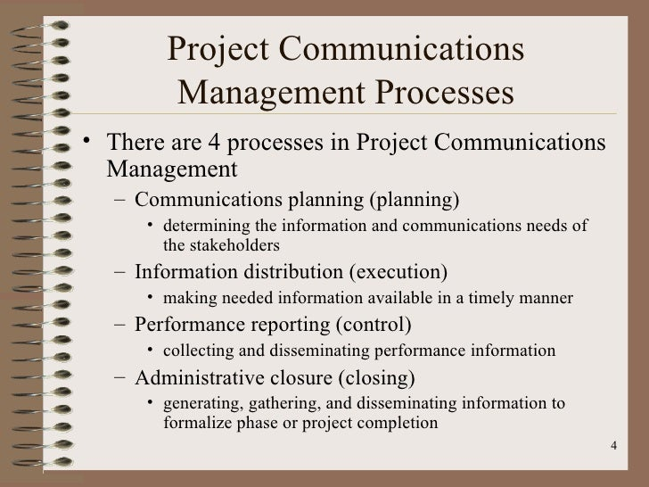 Project management communication