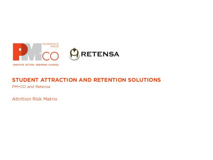 STUDENT ATTRACTION AND RETENTION SOLUTIONSPM+CO and RetensaAttrition Risk Matrix