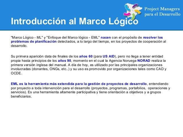 Estudio comparativo PMBOK con Marco Lógico