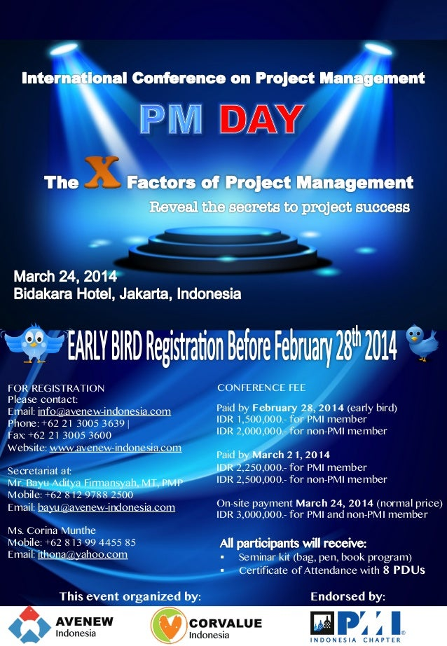 FOR REGISTRATION Please contact: Email: info@avenew-indonesia.com Phone: +62 21 3005 3639 | Fax: +62 21 3005 3600 W...