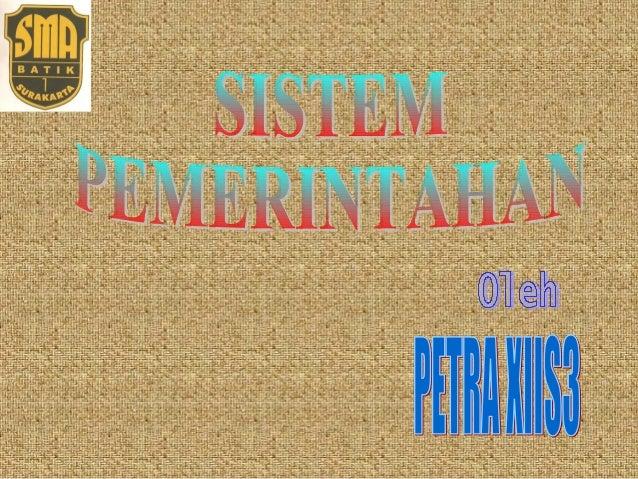 PEMBAHASAN   Pengertian    Macam    Tipe Kabinet       Pelaksanaan Sistem Pemerintahan Negera RI Tata Urutan Perunda...