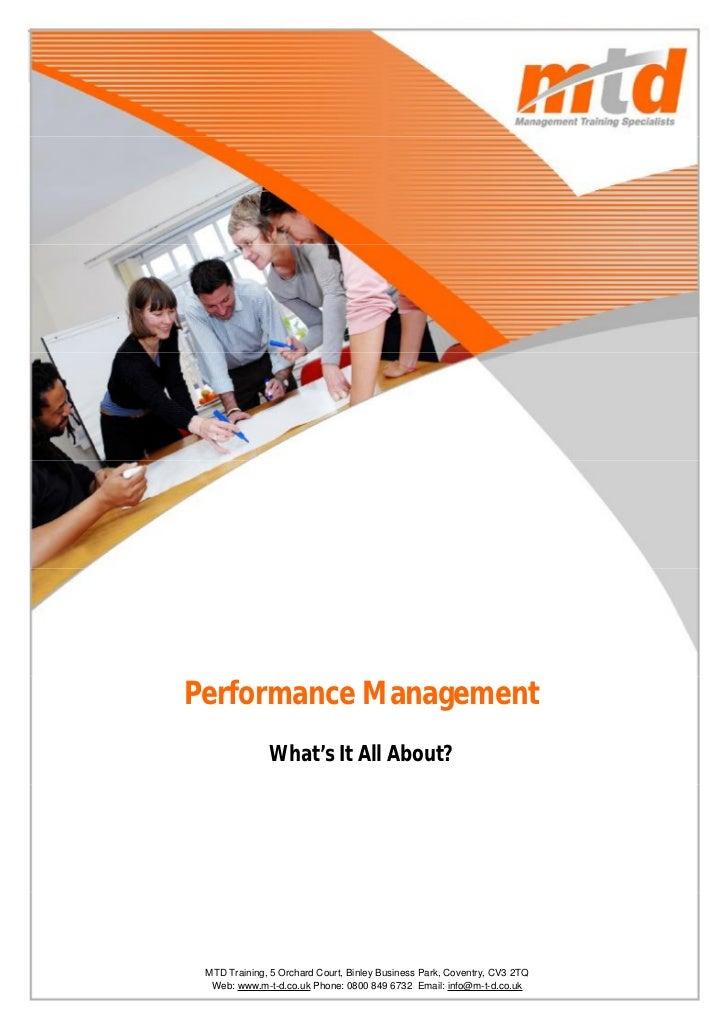 Performance Management Report