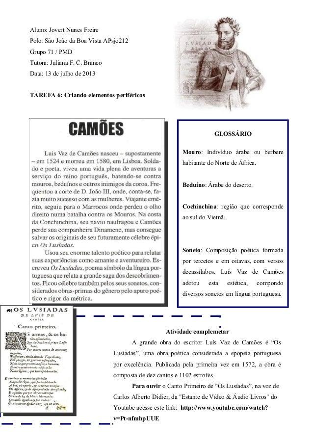 Aluno: Jovert Nunes Freire Polo: São João da Boa Vista APsjo212 Grupo 71 / PMD Tutora: Juliana F. C. Branco Data: 13 de ju...