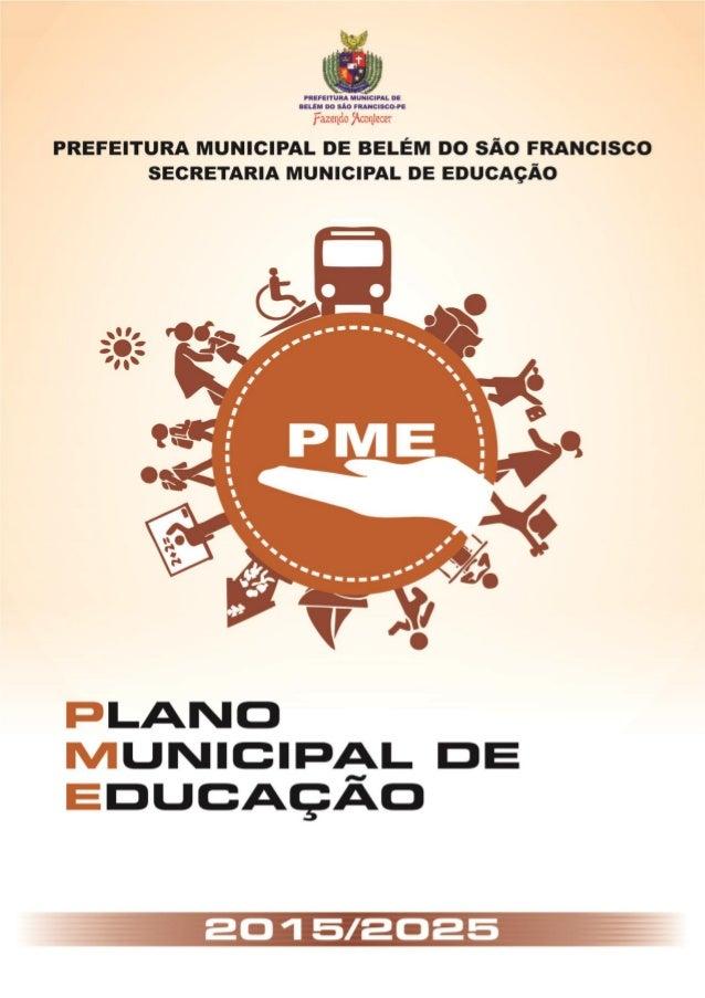 BELÉM DO SÃO FRANCISCO Alinhando PME 2015/2025 1