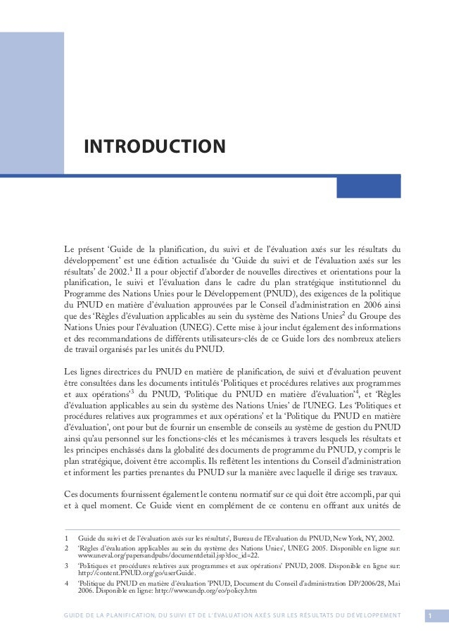 Guide de planification du suivi et de l 39 valuation ax s for Planification en ligne