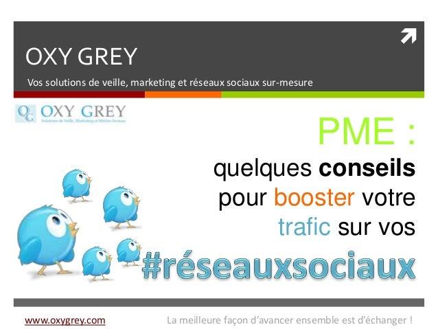  OXY GREY Vos solutions de veille, marketing et réseaux sociaux sur-mesure PME : quelques conseils pour booster votre tra...