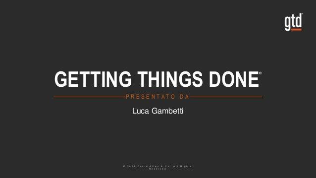 GTD - Luca Gambetti