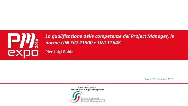 UNI 11648 - Pier Luigi Guida - Qualifica Competenze