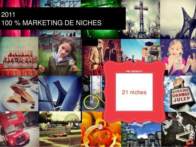 Création  Sport  actuelle  prof.  21 Festivals  niches  2011  100 % MARKETING DE NICHES  CLuGlinBaTire