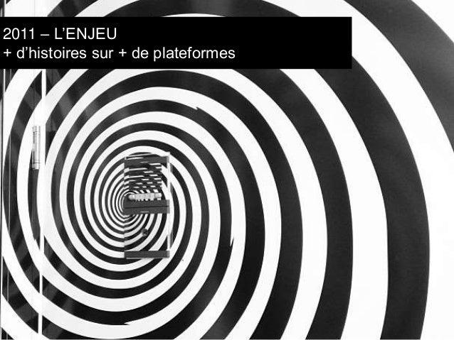 2011 – L'ENJEU  + d'histoires sur + de plateformes